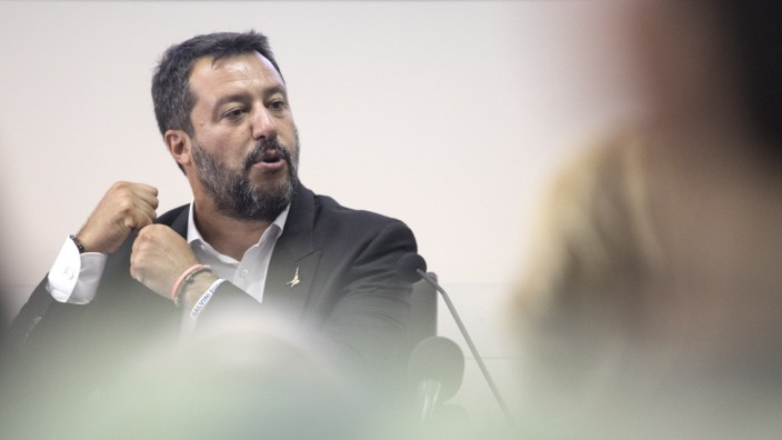 Italy's Deputy PM Salvini Delivers A News Conference
