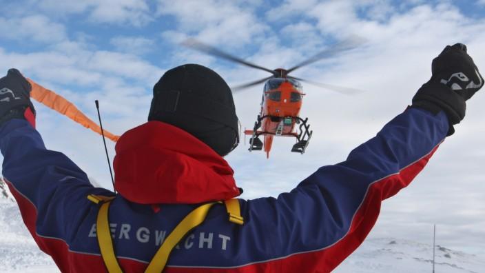 Bergwachtsanwärter Winterrettungsdienst