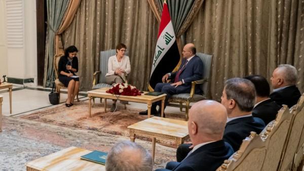 Verteidigungsministerin Kramp-Karrenbauer im Irak