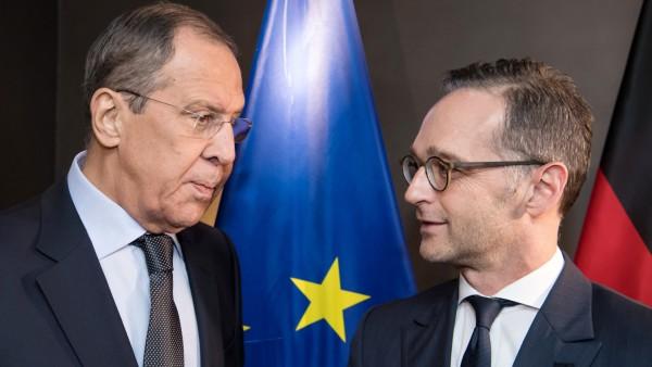 Bundesaußenminister Maas und sein russischer Kollege Lawrow