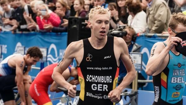 ITU World Triathlon Series in Hamburg -Jonas Schomburg