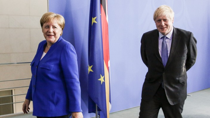 Boris Johnson Meets With Angela Merkel In Berlin