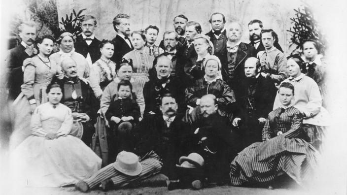 Historische Aufnahme vom Riedl-Treffen im Jahre 1868.