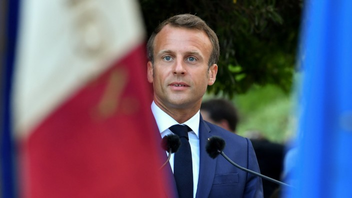 French President Macron attends ceremony for 75th anniversary of liberation of Bormes-les-Mimosas