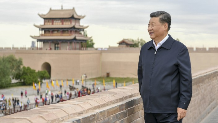Chinas Präsident Xi Jinping zu Besuch am Jiayu-Pass