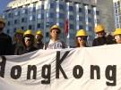 Hongkong-Protest vor chinesischer Botschaft (Vorschaubild)