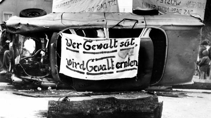 Demonstration gegen die Gebietsreform in Ermershausen, 1978