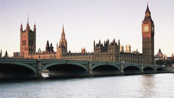 Westminster Bridge and the Houses of Parliament Westminster London England United Kingdom Euro