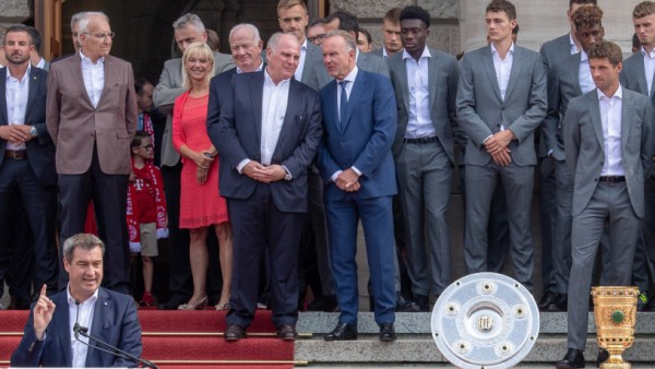 Ministerpräsident Söder empfängt FC Bayern München