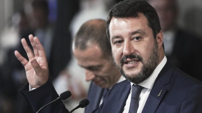 Regierungskrise in Italien - Matteo Salvini in Rom