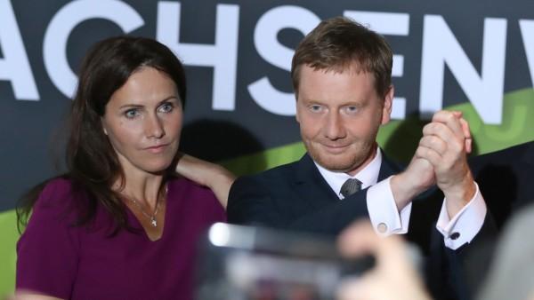 Landtagswahl Sachsen - Wahlparty CDU