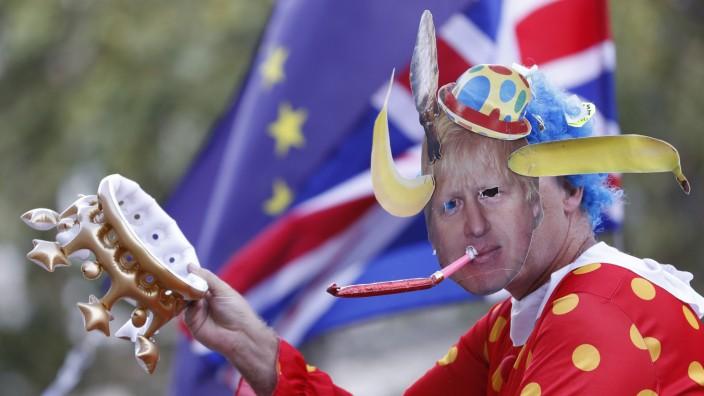 Ein Brexit-Gegner in London