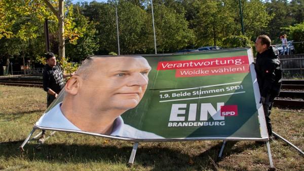 Abbau der Wahlplakate in Brandenburg