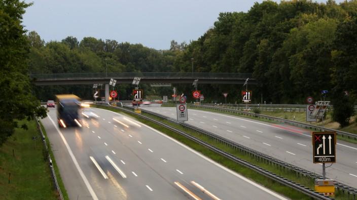 Autobahn A 95 im Münchner Süden, 2015