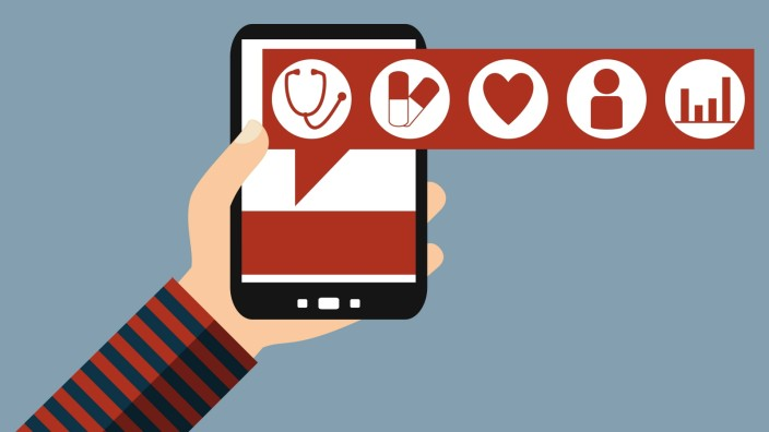Smart Phone Health Data german Flat Design PUBLICATIONxINxGERxSUIxAUTxONLY Copyright xkeportx P