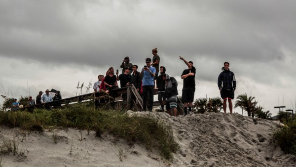 Locals bear the winds of Hurricane Dorian in Jacksonville, Florida U.S.