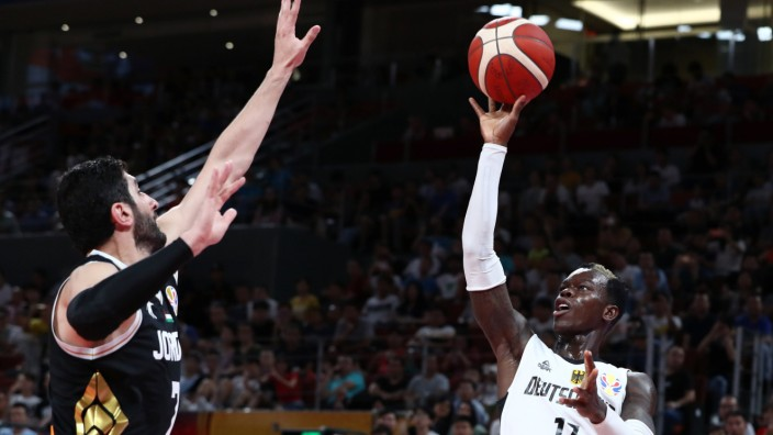 Basketball - FIBA World Cup - First Round - Group G - Germany v Jordan