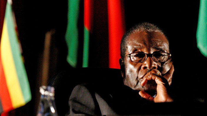 Robert Mugabe 2008 in Johannesburg
