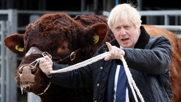 Boris Johnson Visits Aberdeenshire To Announce Additional Funding For Scottish Farmers