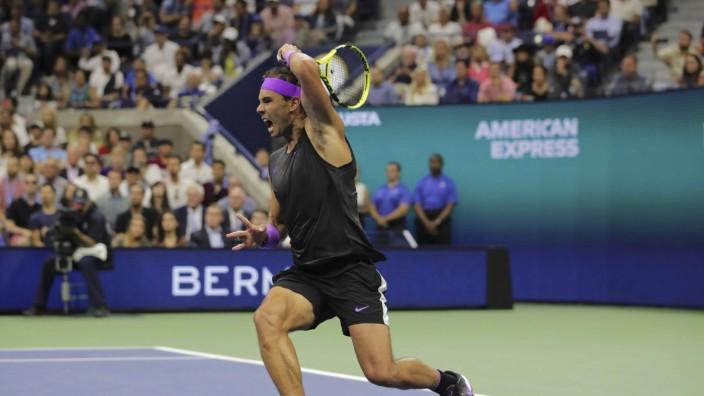 Rafael Nadal im Finale der US Open 2019