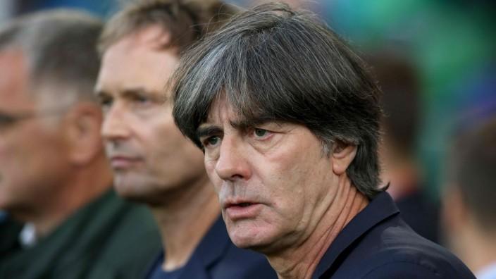 Nationalmannschaft - DFB-Bundestrainer Jogi Löw bei der EM-Quali gegen Nordirland
