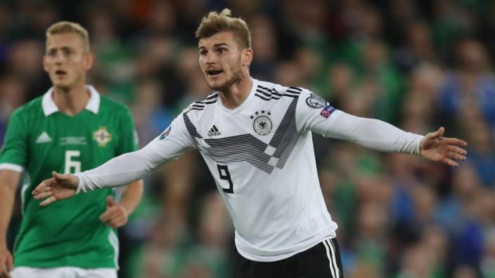 Timo Werner beim EM-Qualifikationsspiel Nordirland gegen Deutschland