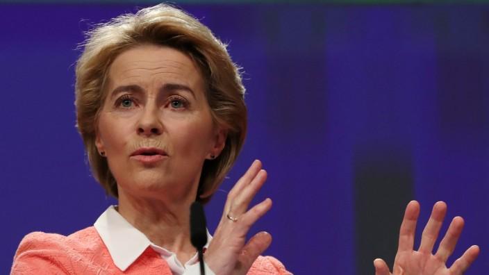 EU-Kommissionspräsidentin Ursula von der Leyen 2019 in Brüssel