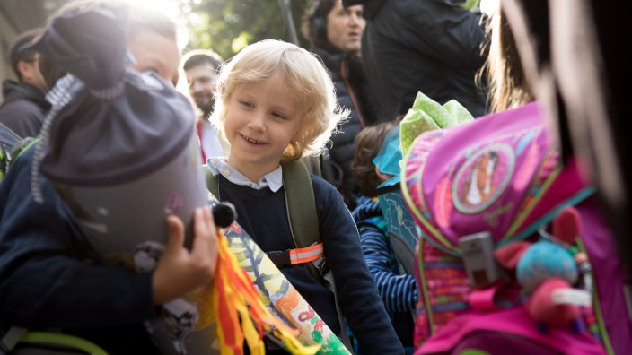 Große Vorfreunde: Die Erstklässler der Sankt-Anna-Grundschule sind bereit für den ersten Schultag.