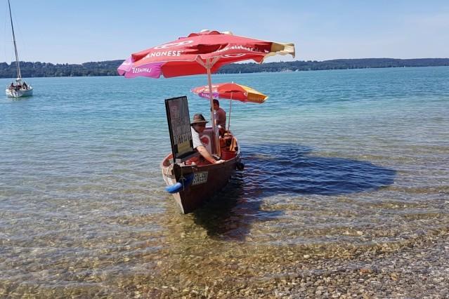 Eisboot Starnberger See Eis Getränke