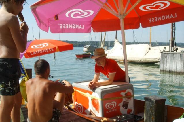 Eisboot Starnberger See Getränke Eis