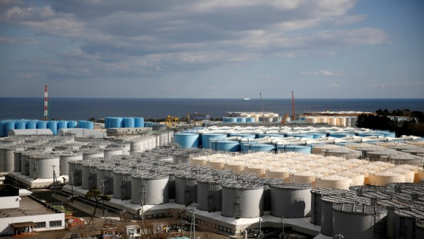 FILE PHOTO: Storage tanks for radioactive water are seen at tsunami-crippled Fukushima Daiichi nuclear power plant in Okuma