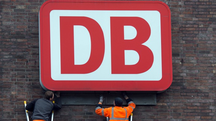 Logo der Deutschen Bahn in Düsseldorf