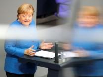 Kanzlerin Angela Merkel, Generaldebatte Bundestag