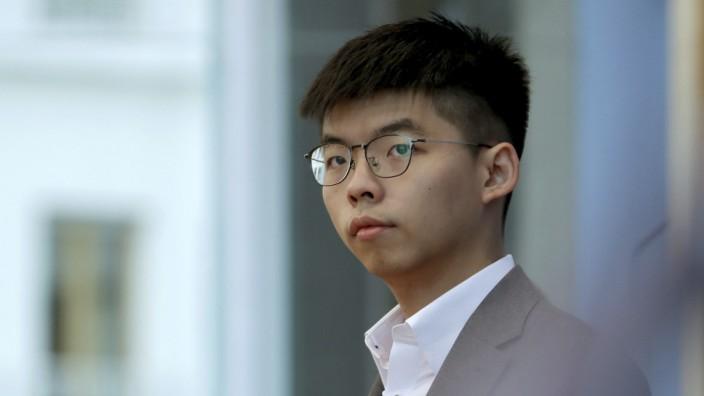 Hongkong-Proteste - Aktivist Joshua Wong 2019 in Berlin