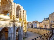 Arles Amphitheatre Provence Alpes Cote d Azur France PUBLICATIONxINxGERxSUIxAUTxONLY Copyright Ma