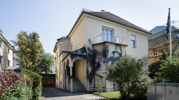 Verschmiertes  Griechisches Generalkonsulat, Möhlstr. 22, Bogenhausen