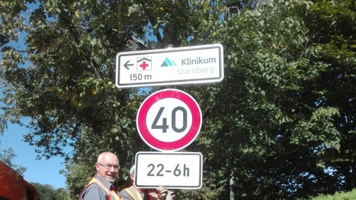 Tempolimit von 40 km/h auf der Hanfelder Straße in Starnberg