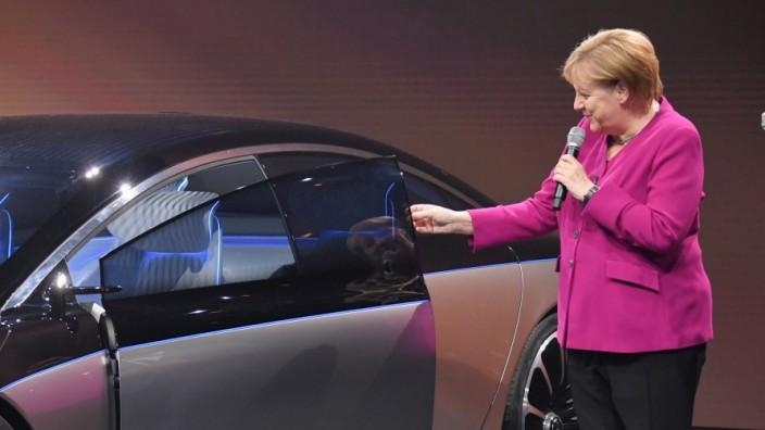 IAA 2019 - Angela Merkel bei der Eröffnung der Automesse