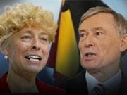 Gesine Schwan, Horst Köhler, Bundespräsident, ddp