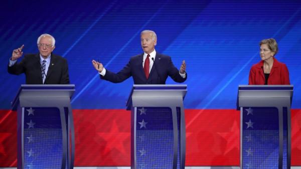 Demokraten: TV-Debatte mit Bernie Sanders, Joe Biden und Elisabeth Warren