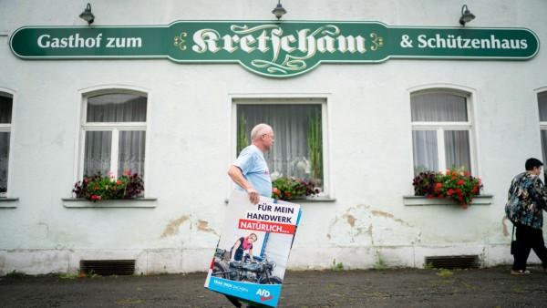 AfD-Landtagswahlkampf in Spitzkunnersdorf