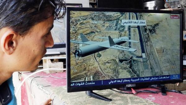 Jemen: TV-Berichterstattung über einen Drohnenangriff auf einen Flughafen in Saudi-Arabien
