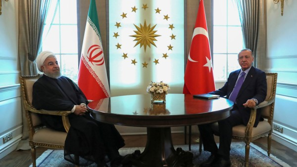 Turkish President Erdogan meets with his Iranian counterpart Rouhani in Ankara