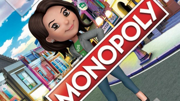 Ms. Monopoly, die Nichte von Mr. Monopoly, präsentiert die neue Edition des berühmten Spieleklassikers