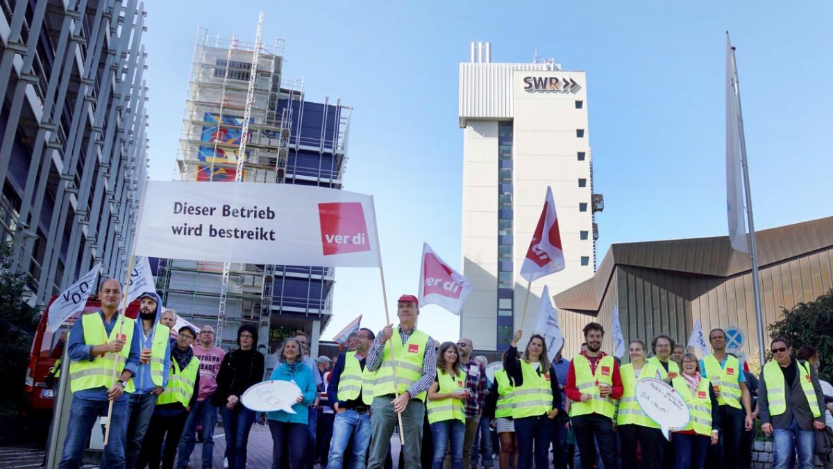 Warnstreik - Gewerkschaften zufrieden mit ARD-Streik
