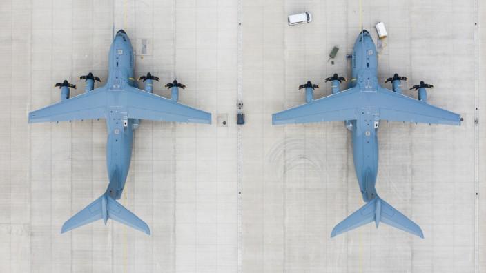 Airbus A400M-Transportflugzeuge auf dem Fliegerhorst Wunstorf
