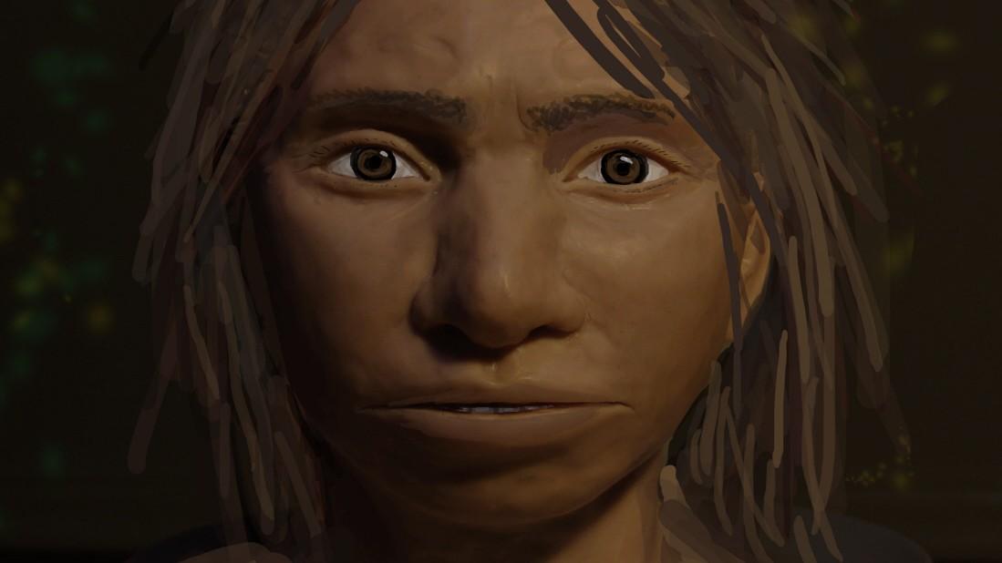 Gesicht eines Denisova-Urmenschen rekonstruiert