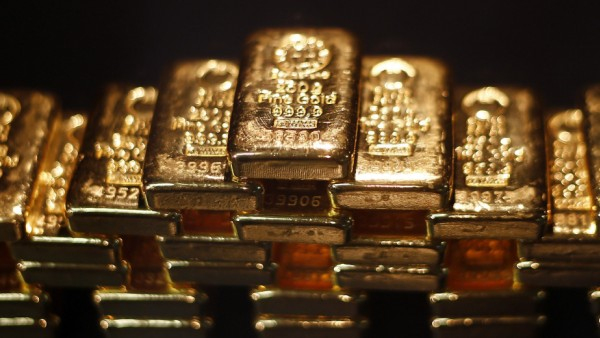 File photo of gold bars stacked at a safe deposit room of the ProAurum gold house in Munich