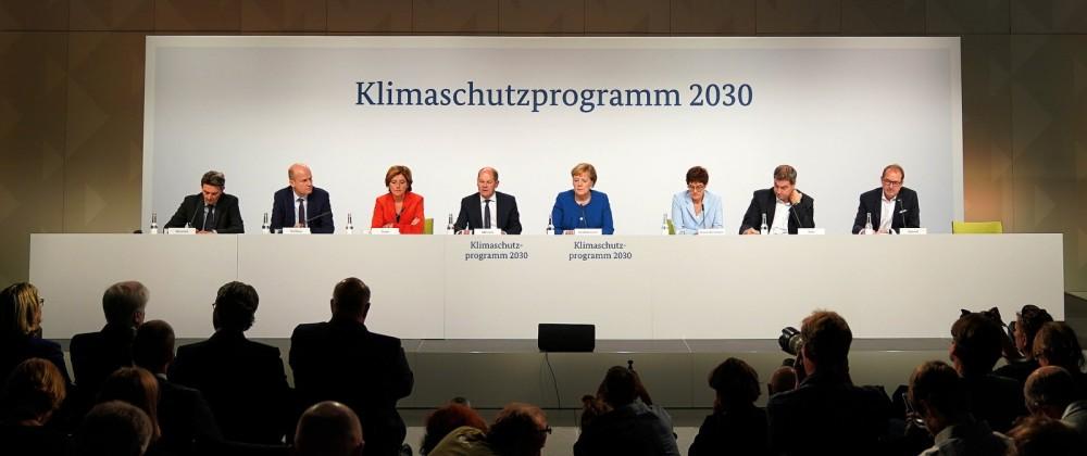 Klimakabinett der Bundesregierung - Pk
