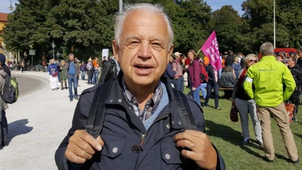 Franz Heimerl bei der Klima-Demo in München.
